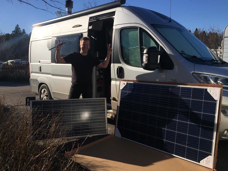 Aurinkopaneeli tekee karavaanarista omavaraisen