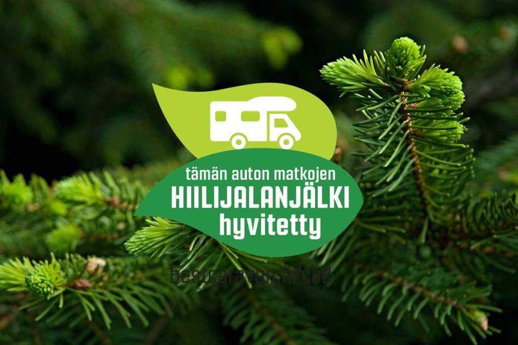 BestHoliday matkailuauton hiilidioksidipäästöt hyvitetään istuttamalla metsää.