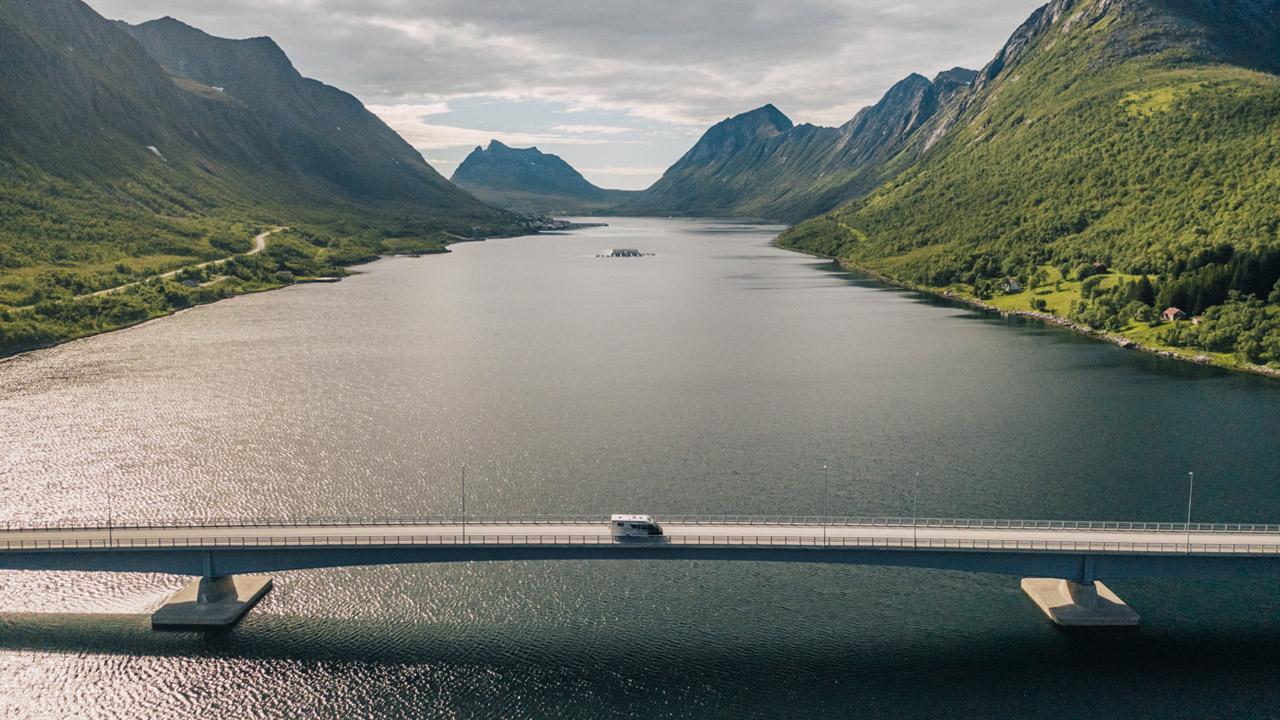 Ensimmäistä kertaa matkailuautolla Norjaan.