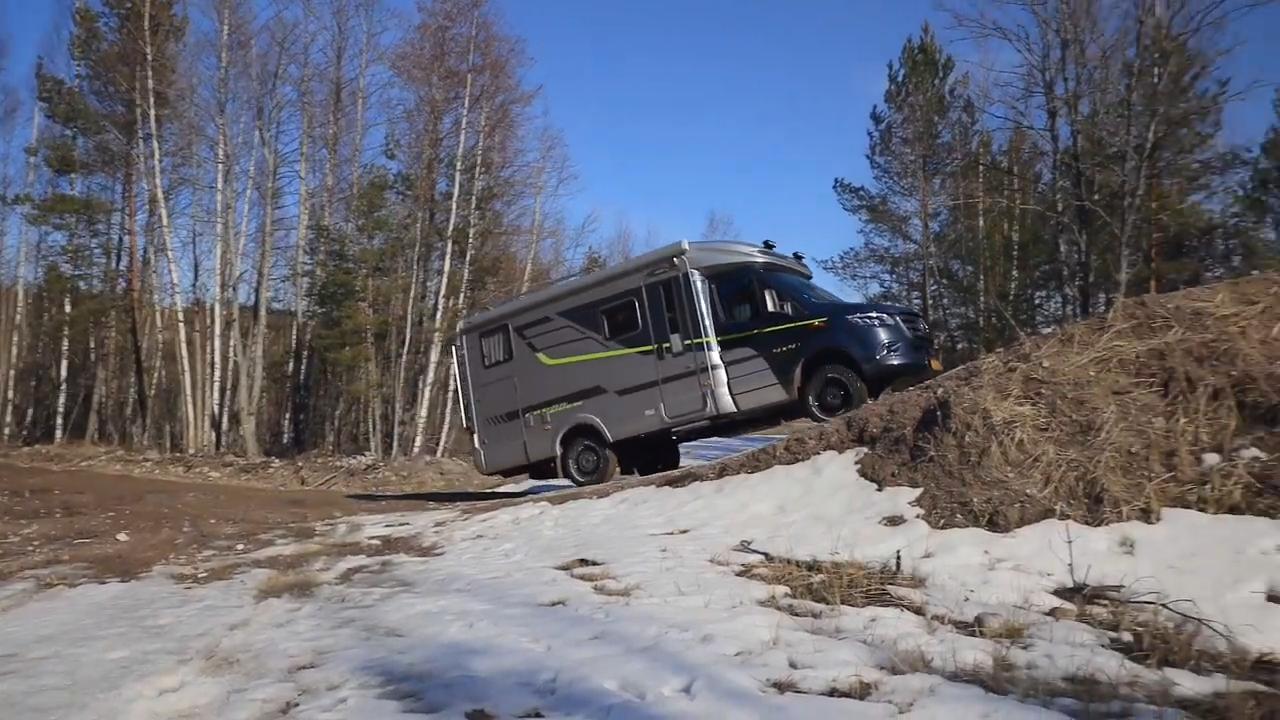 Hymer ML-T 570 CrossOver matkailuauto sopii talvikäyttöön erinomaisesti