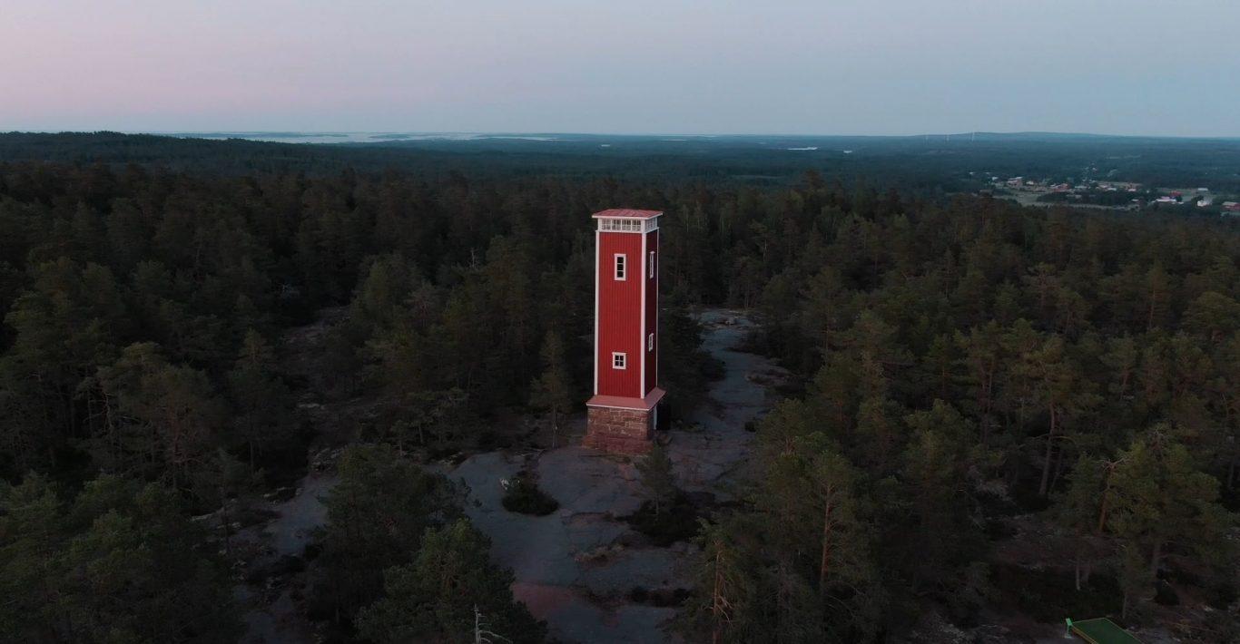 Getan näkötorni ilmasta kuvattuna