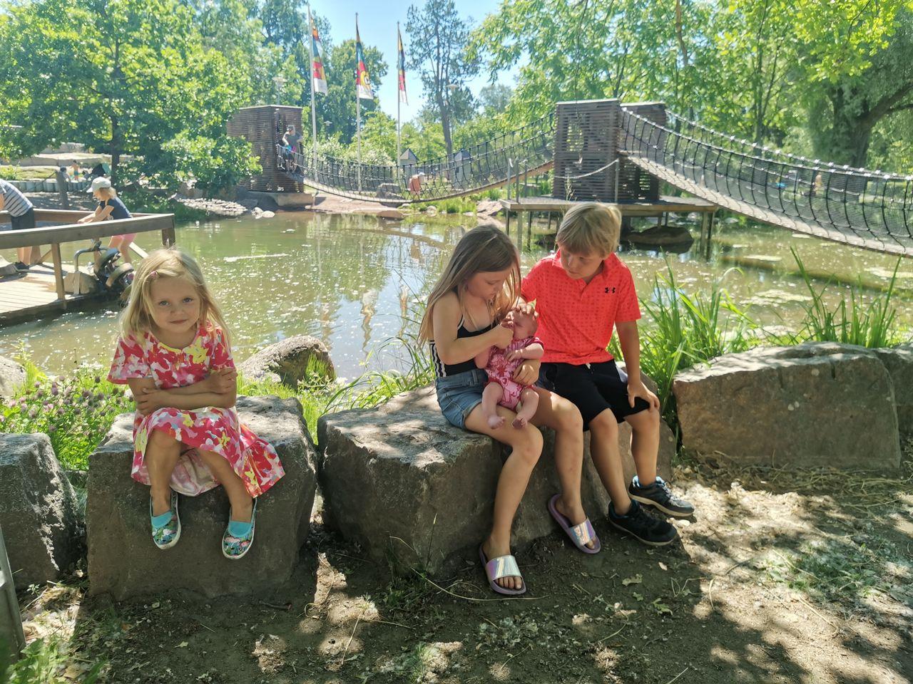 Seikkailupuisto sopii hyvin Matkakohteet lapsiperheille -suosituksiin.